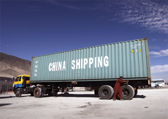 A shipping container outside Quetta, Pakistan, November 29, 2015. Photograph: Naseer Ahmed/Reuters