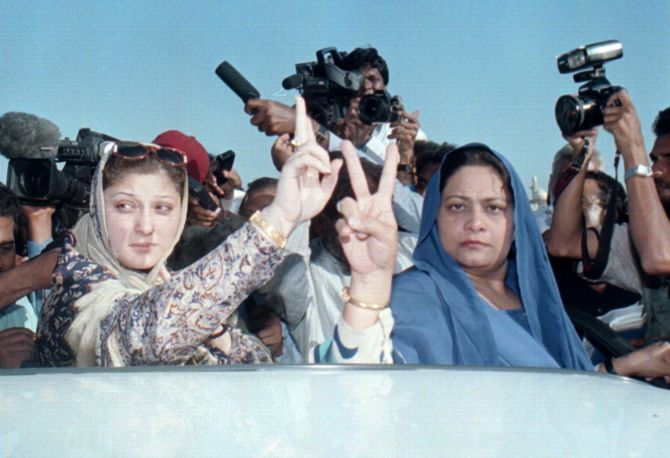 Maryam Nawaz, left, Prime Minister Nawaz Sharif's daughter.