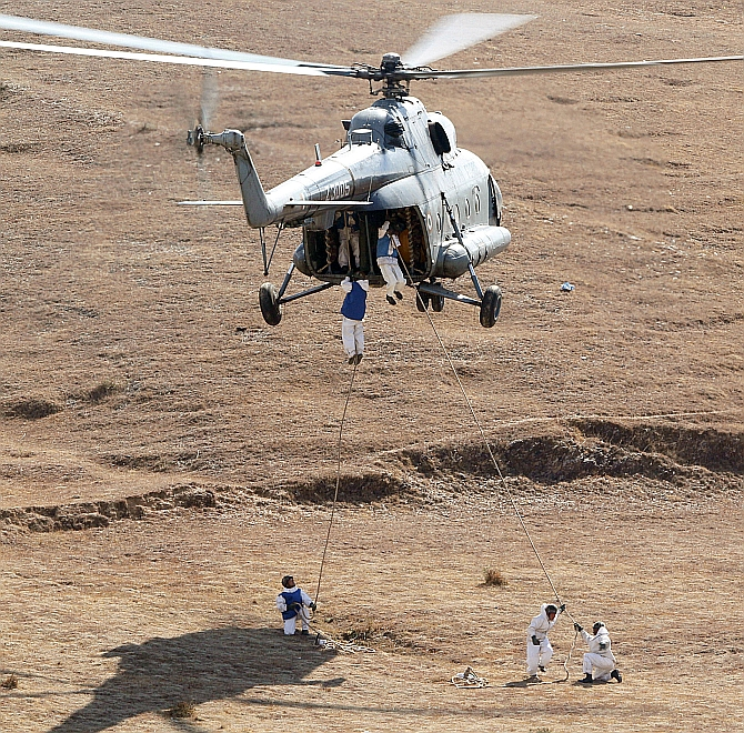 PHOTOS: India, Nepal armies train hard at Pithoragarh