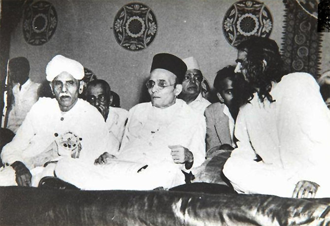 Savarkar, centre, with others
