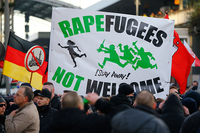 Protest against refugees