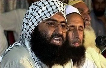 Masood Azhar of the Jaish-e-Mohammad, left.