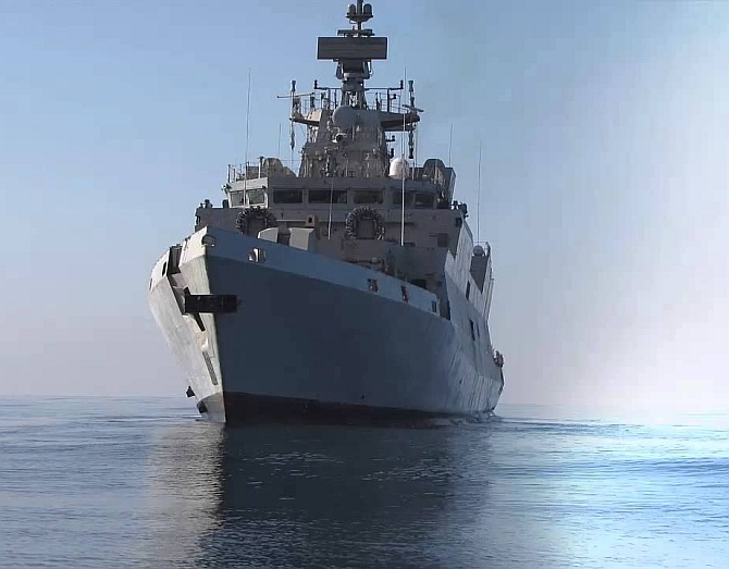Navy's 'Made in India' anti-submarine warship Kadmatt commissioned