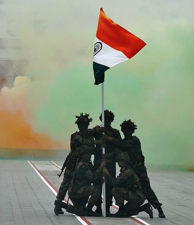 On founding day, Army shows its colours