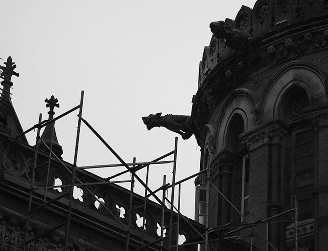 Gargoyles on the CST facade