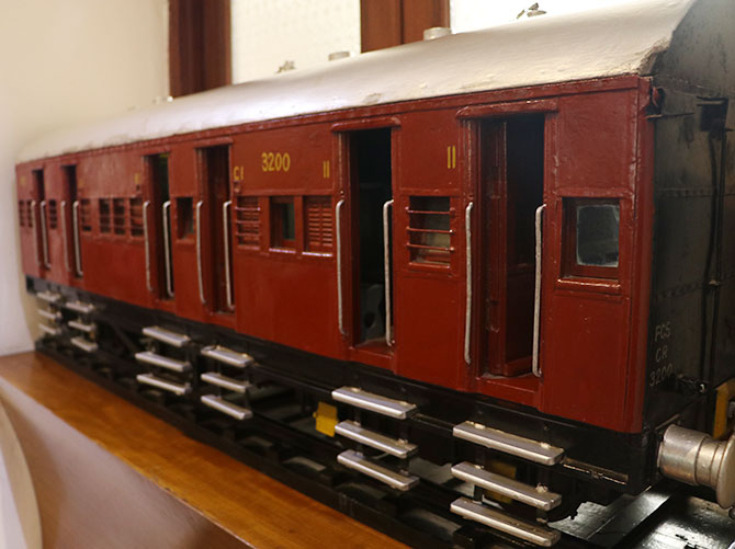 A model of an Indian railway train