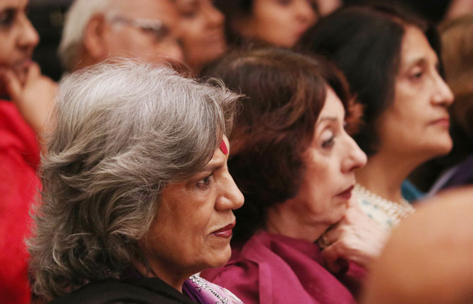 Dolly Thakore was spotted in the audience.
