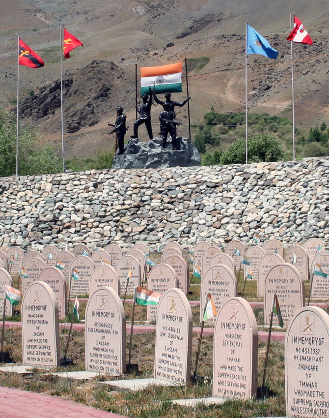 Kargil War Memorial in Drass at the foothill of Tololing