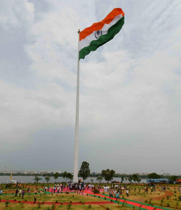 The 291-feet flag in Hyderabad, Telangana