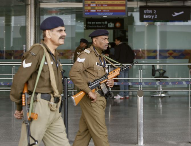 A scene at an Indian airport