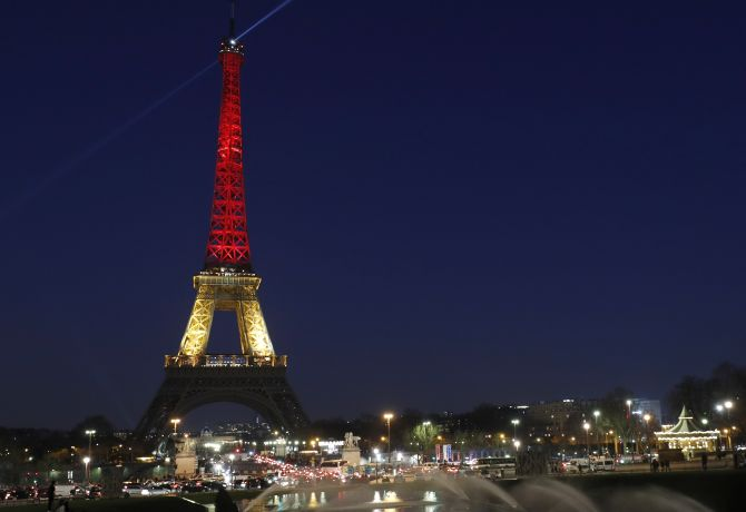Terror In Brussels World Monuments Light Up In Belgian Flag Colours