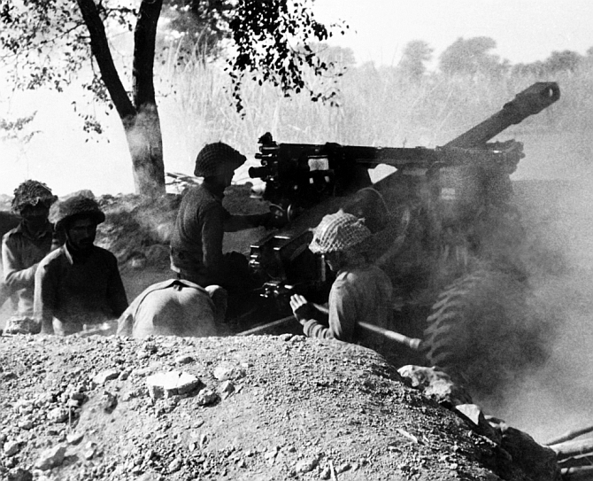 Indian troops during the 1971 War