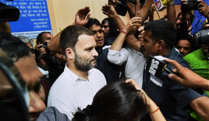 Mediocrity comes face to face with reality: Rahul hits back at PM