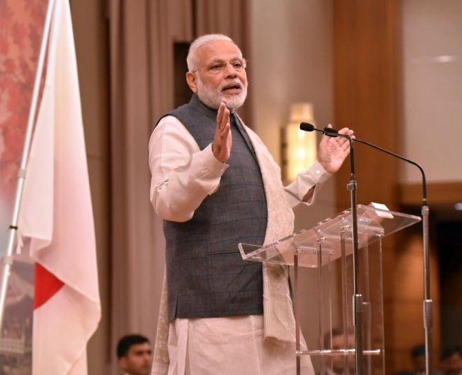 Currency ban 'biggest swachh abhiyan': PM Modi in Japan