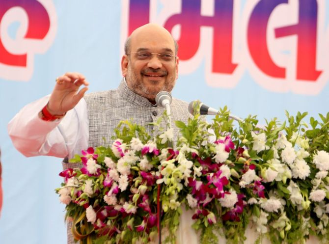 Congress leaders stashed Rs 12L cr, PM turned it into scrap: Shah