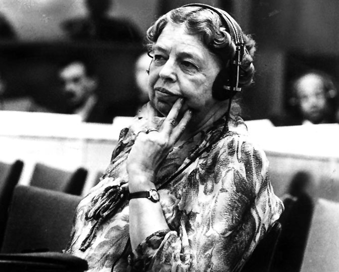 US First Lady Eleanor Roosevelt