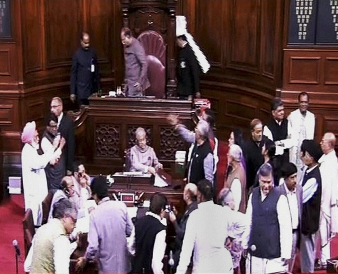 Opposition derails Parliament after PM takes a dig at them