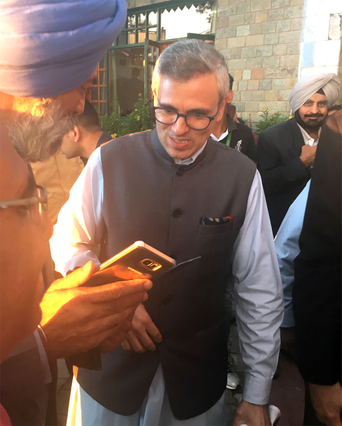 Omar Abdullah at the Kasauli Literary Festival. Photograph: Seema Pant