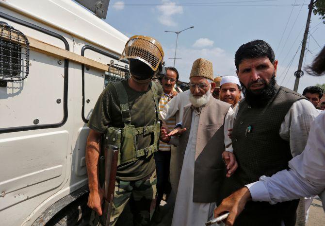 Separatist leader Syed Ali Shah Geelani in Srinagar