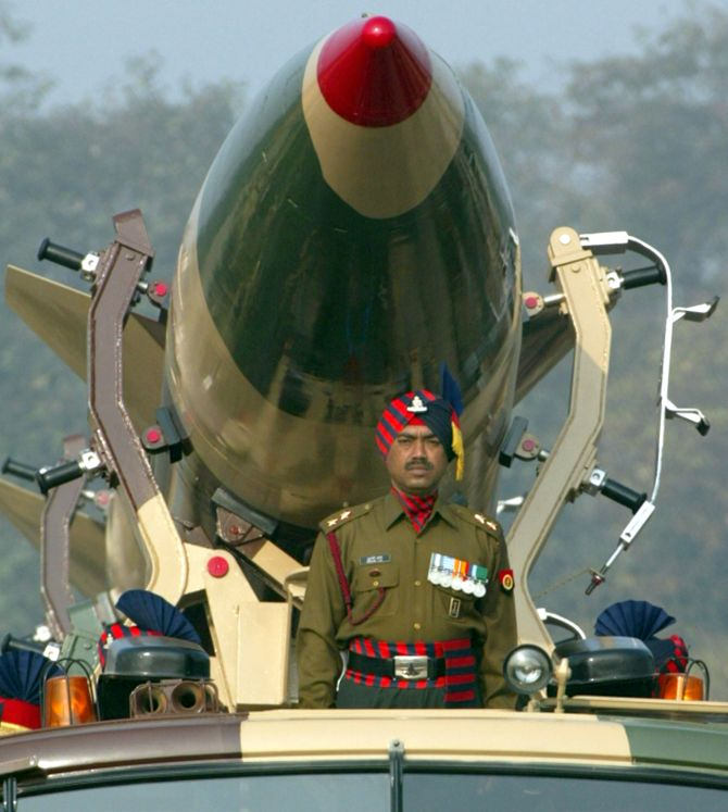 India's nuclear missile. Photograph: Reuters