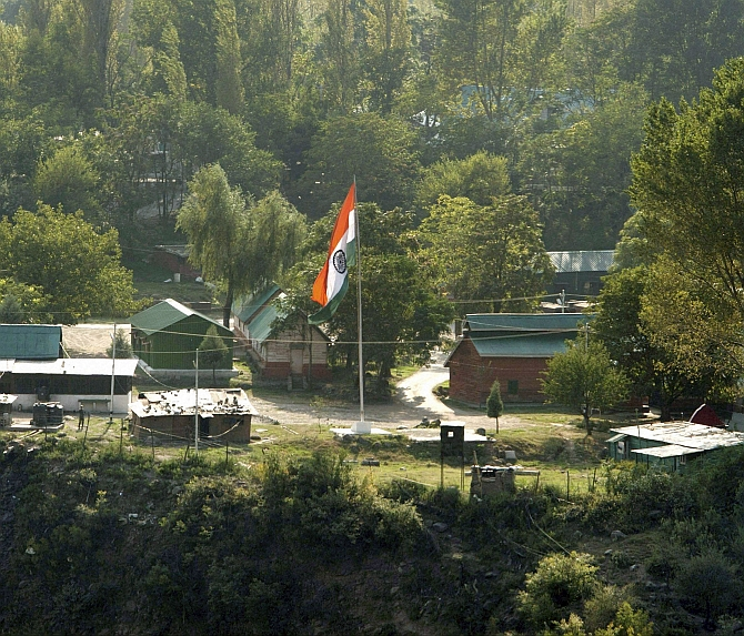 The Indian Army camp in Uri that came under attack on September 18, 2016. Photograph: PTI Photo
