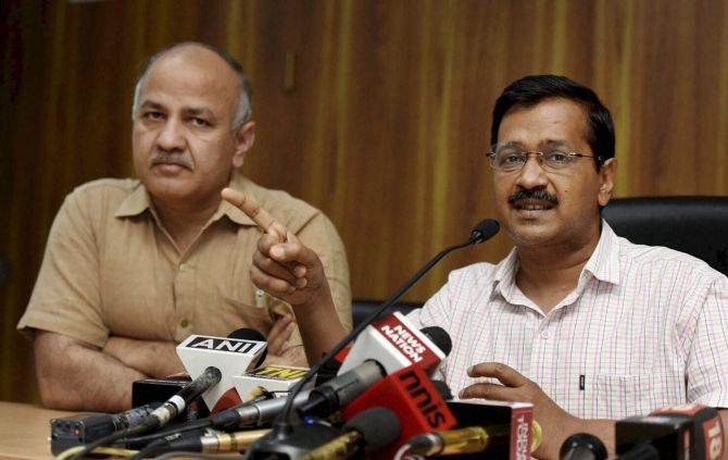 Kejriwal, Sisodia dropped from Melania's school event