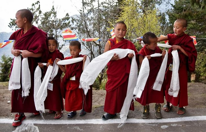 Young monks in Tawang