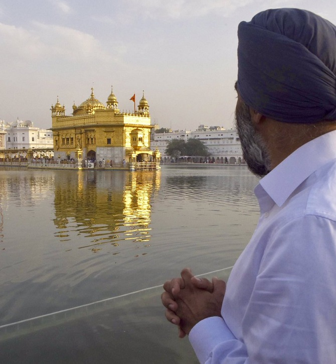 Harjit Sajjan at Golden Temple