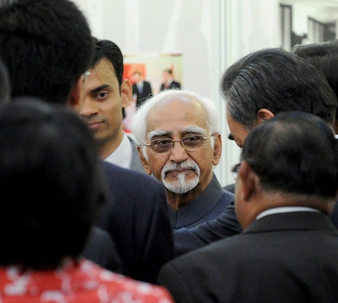Hamid Ansari: 'Govt will manage standoff with China'