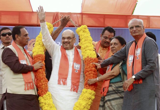 What are Amit Shah's plans for Gujarat poll?