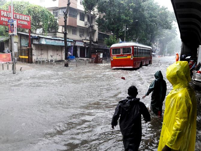 Rains flood Mumbai