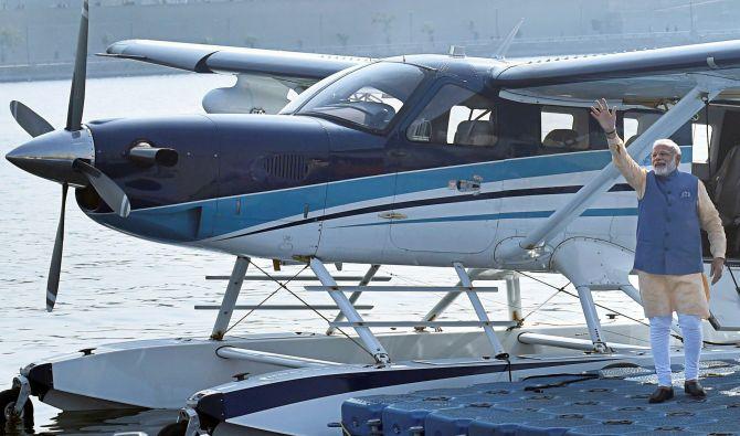 WATCH: Modi's seaplane ride on Sabarmati river