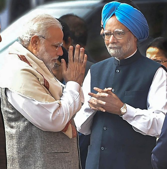After handshake, Manmohan attacks Modi; why angry now, asks BJP