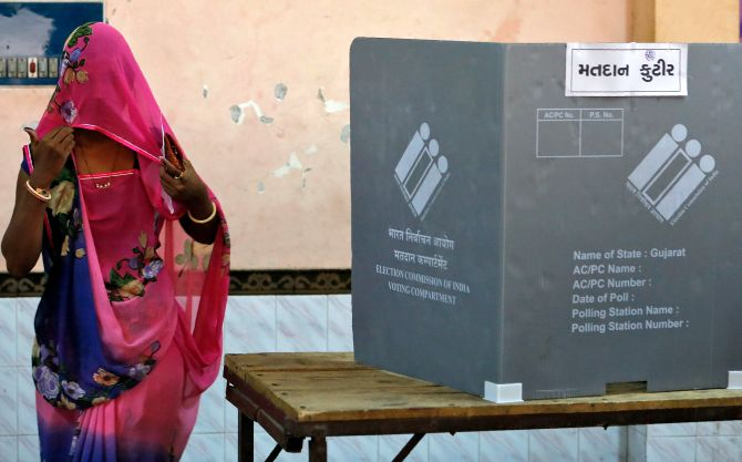 Gujarat set for second phase of polls; Modi, Shah to vote