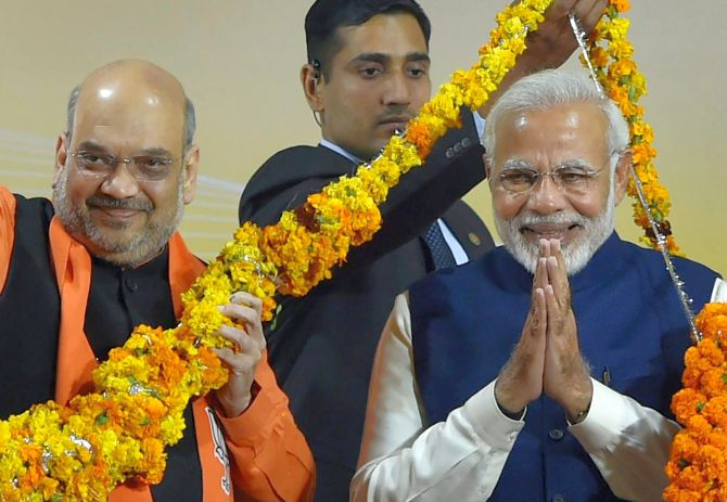 BJP survives Gujarat scare; tramples Congress in HP