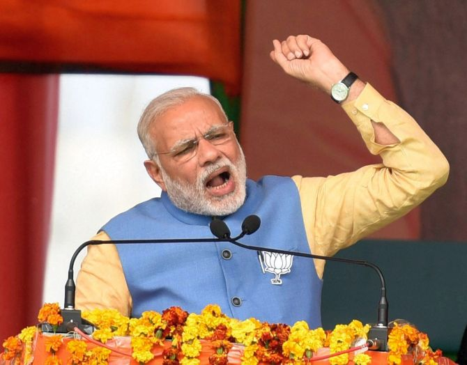 Akhilesh is clinging to anything to escape BJP storm: PM