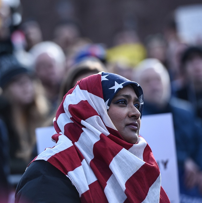 American Muslim woman in a hijab