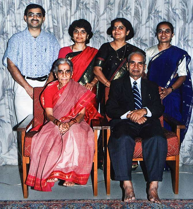 The Kukarni family: Sudha Murthy with her siblings
