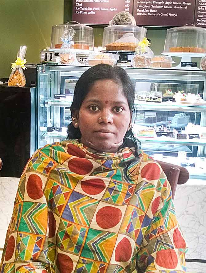 M Punithavalli is happy that she contribute to the family income.