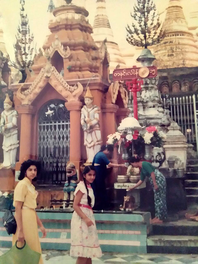 On a family trip in 1987