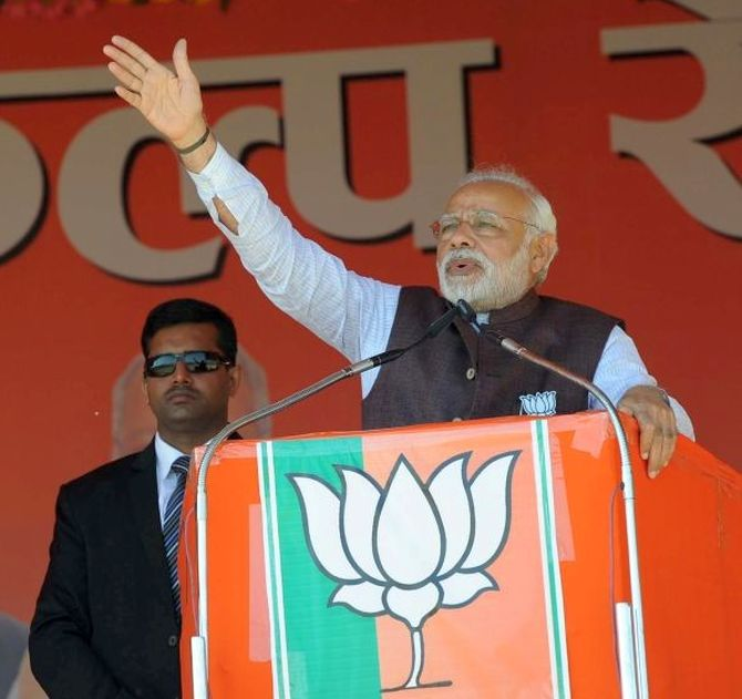 Kanpur train accident was conspiracy from across border: PM in UP