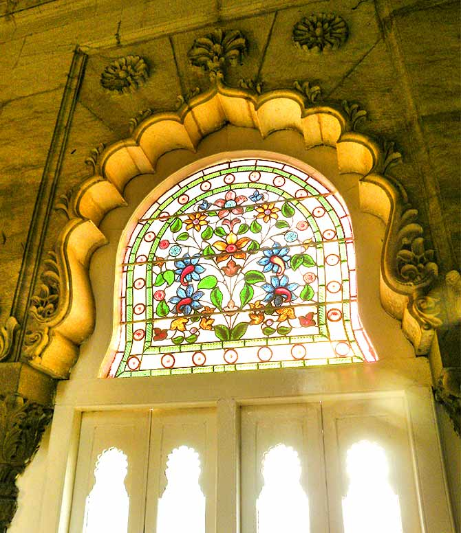 Stained glass windows of Lakshmi Niwas Palace, Baroda