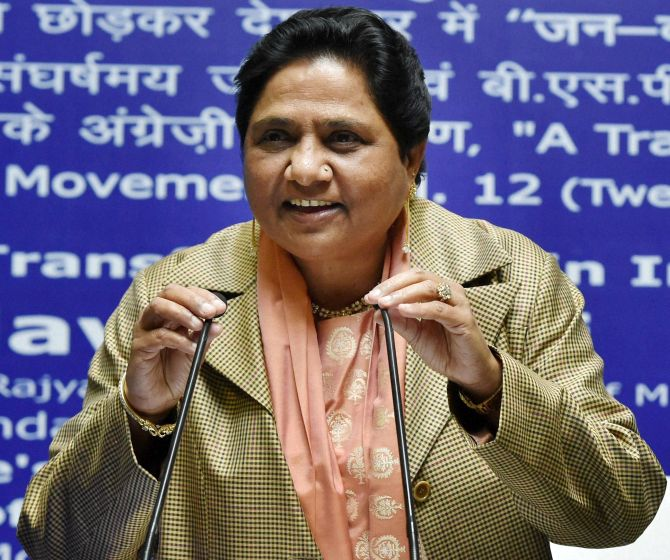 Bahujan Samaj Party chief Mayawati. Photograph: Nand Kumar/PTI Photo