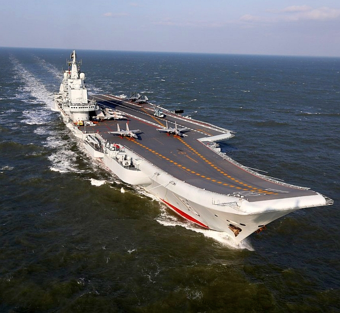 A Chinese aircraft carrier