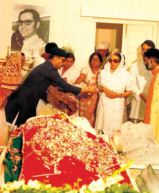 Indira Gandhi was devastated by the death of her younger son, Sanjay.