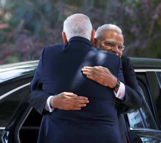 PHOTOS: On Day 2 of Modi's Israel visit it was all about the hugs!