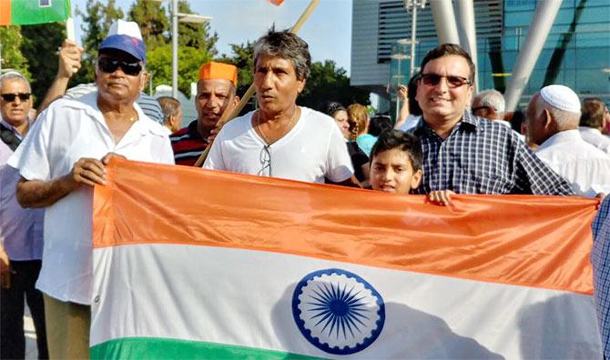 Indians celebrate Modi's visit in Tel Aviv