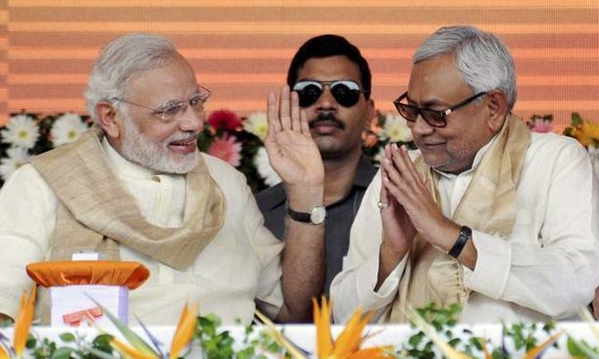 Prime Minister Narendra Modi and Bihar Chief Minister Nitish Kumar