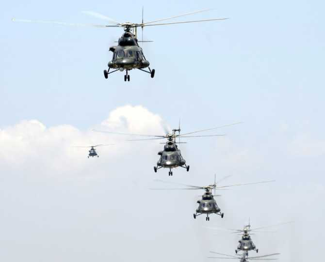 Why did China send its helicopters to Chamoli?