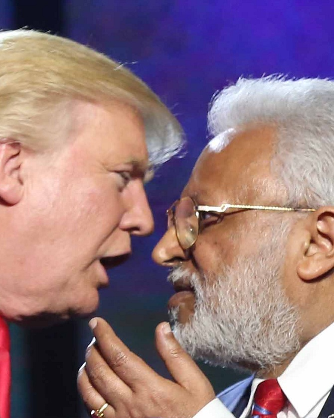 Shalabh Kumar and Donald Trump